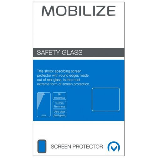 Productafbeelding van de Mobilize Full Coverage Safety Glass Screenprotector Black Motorola Moto G8 Power