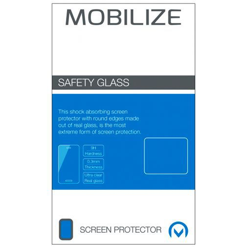 Productafbeelding van de Mobilize Full Coverage Safety Glass Screenprotector Black Samsung Galaxy A40