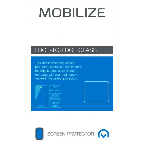 Productafbeelding van de Mobilize Gehard Glas Edge-To-Edge Screenprotector Apple iPhone 12 Mini Zwart