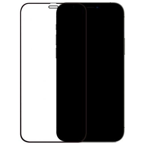 Productafbeelding van de Mobilize Gehard Glas Edge to Edge Screenprotector Apple iPhone 12 Pro Max Zwart