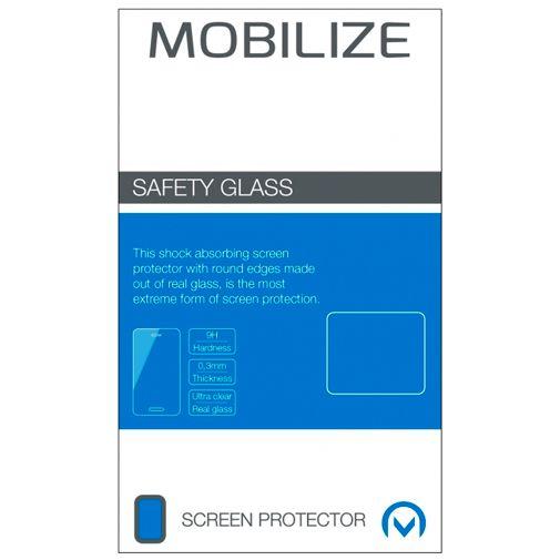 Productafbeelding van de Mobilize Gehard Glas Edge To Edge Screenprotector Google Pixel 4a 5G Zwart