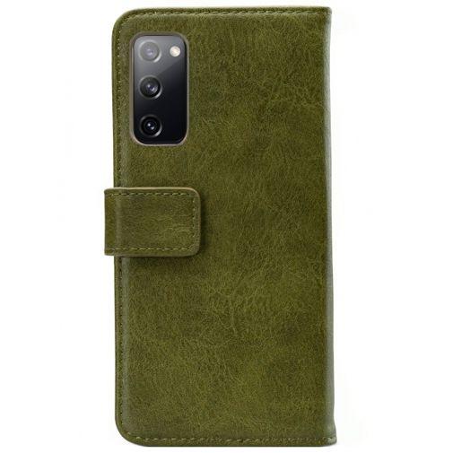 Productafbeelding van de Mobilize PU-leer Book Case Groen Samsung Galaxy S20 FE