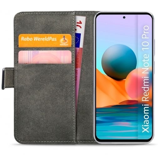 Productafbeelding van de Mobilize PU-leer Book Case Zwart Xiaomi Redmi Note 10 Pro