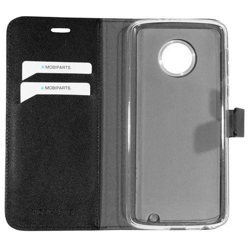 Produktimage des Mobiparts Classic Wallet Case Schwarz Motorola Moto G6 Plus
