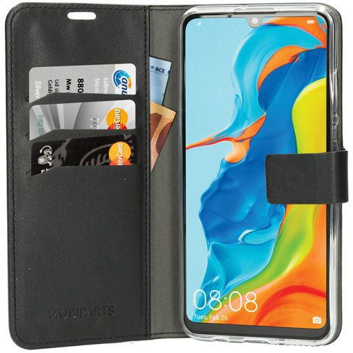 Produktimage des Mobiparts Classic Wallet Case Schwarz Huawei P30 Lite/P30 Lite New Edition