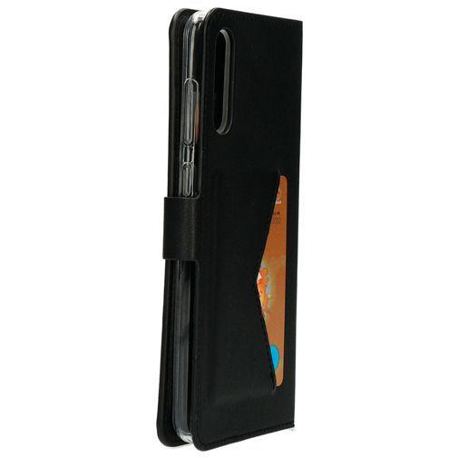 Produktimage des Mobiparts Classic Wallet Case Schwarz Samsung Galaxy A70