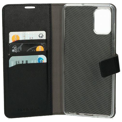 Productafbeelding van de Mobiparts Classic Wallet Case Black Samsung Galaxy A71