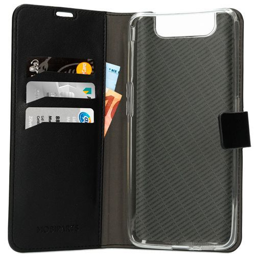 Productafbeelding van de Mobiparts Classic Wallet Case Black Samsung Galaxy A80