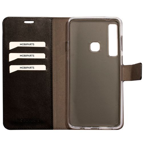 Produktimage des Mobiparts Classic Wallet Case Schwarz Samsung Galaxy A9