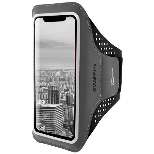 Produktimage des Mobiparts Comfort Fit Sport Armband Schwarz Apple iPhone XS Max