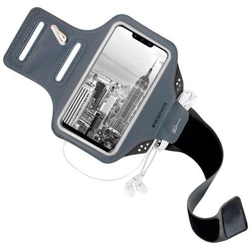 Produktimage des Mobiparts Comfort Fit Sport Armband Schwarz Huawei Mate 20 Lite