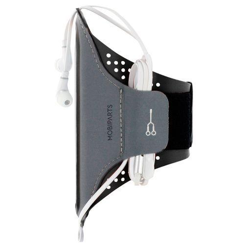 Produktimage des Mobiparts Comfort Fit Sport Armband Schwarz Huawei P30 Lite/P30 Lite New Edition