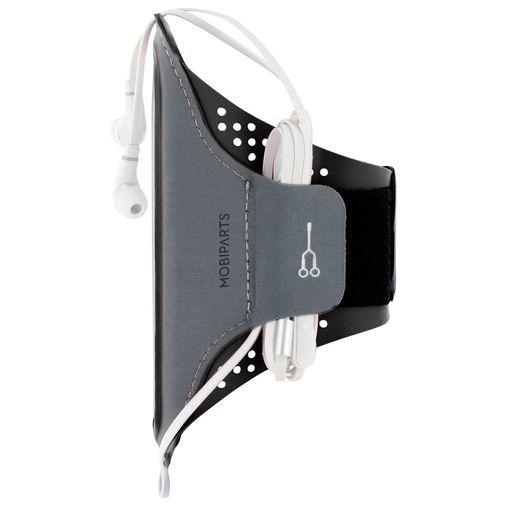 Produktimage des Mobiparts Comfort Fit Sport Armband Schwarz Samsung Galaxy A20e