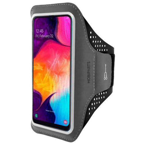 Produktimage des Mobiparts Comfort Fit Sport Armband Schwarz Samsung Galaxy A30s/A50
