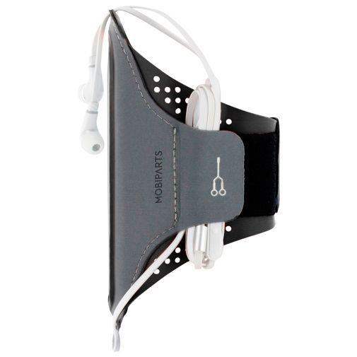 Produktimage des Mobiparts Comfort Fit Sport Armband Schwarz Samsung Galaxy A51 4G