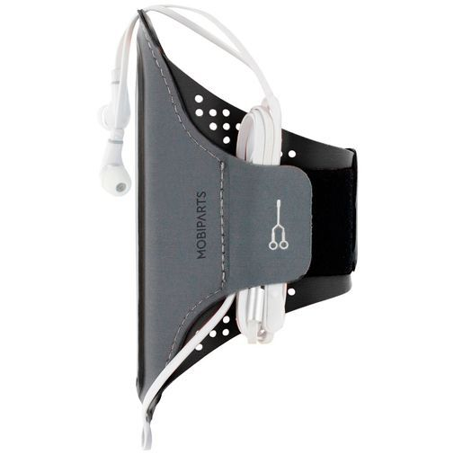 Produktimage des Mobiparts Comfort Fit Sport Armband Schwarz Samsung Galaxy A70