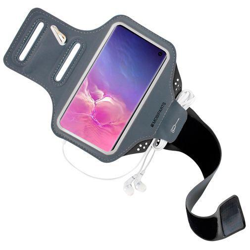 Produktimage des Mobiparts Comfort Fit Sport Armband Schwarz Samsung Galaxy S10 G973
