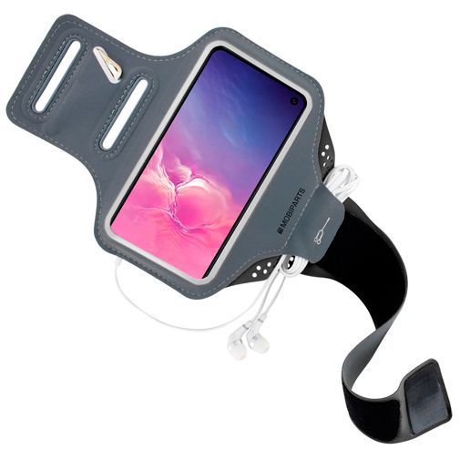 Produktimage des Mobiparts Comfort Fit Sport Armband Schwarz Samsung Galaxy S10e
