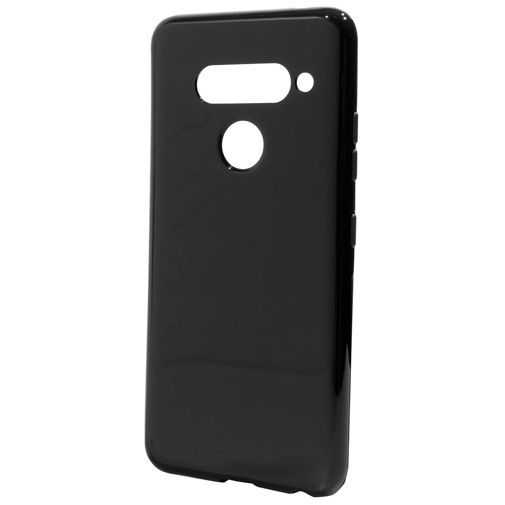 Productafbeelding van de Mobiparts Essential TPU Case Black LG V40 ThinQ