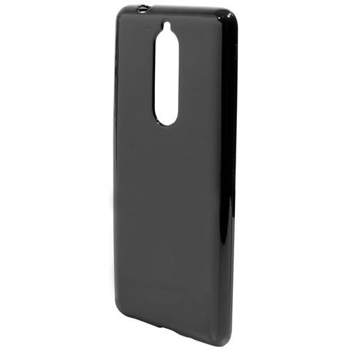 Productafbeelding van de Mobiparts Essential TPU Case Black Nokia 5.1