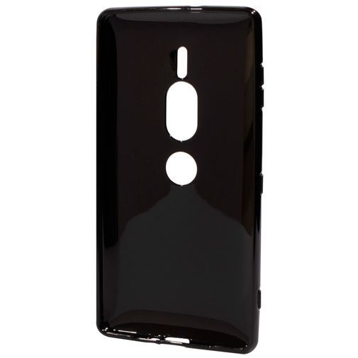 Produktimage des Mobiparts Essential TPU Hülle Schwarz Sony Xperia XZ2 Premium