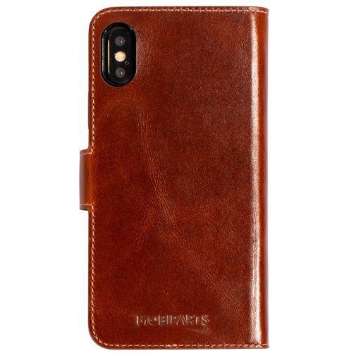 Productafbeelding van de Mobiparts Excellent Wallet Case 2.0 Brown Apple iPhone X/XS