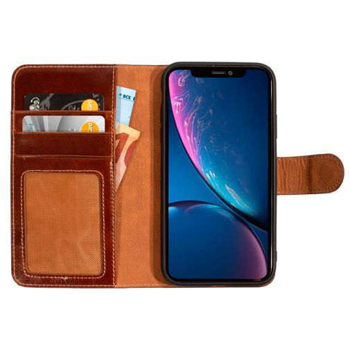 Productafbeelding van de Mobiparts Excellent Wallet Case 2.0 Brown Apple iPhone XR