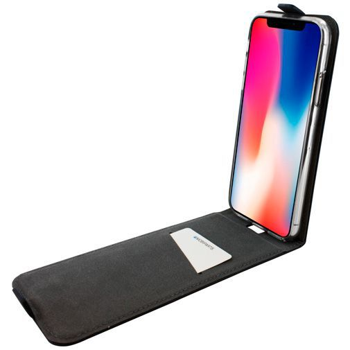 Productafbeelding van de Mobiparts Premium Flip TPU Case Black Apple iPhone X/XS