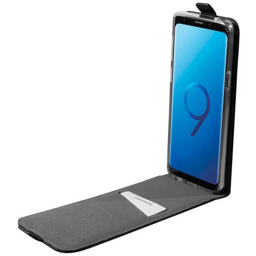 Produktimage des Mobiparts Premium Flip TPU Case Schwarz Samsung Galaxy S9