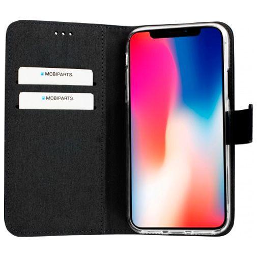 Productafbeelding van de Mobiparts Premium Wallet TPU Case Black Apple iPhone X/XS