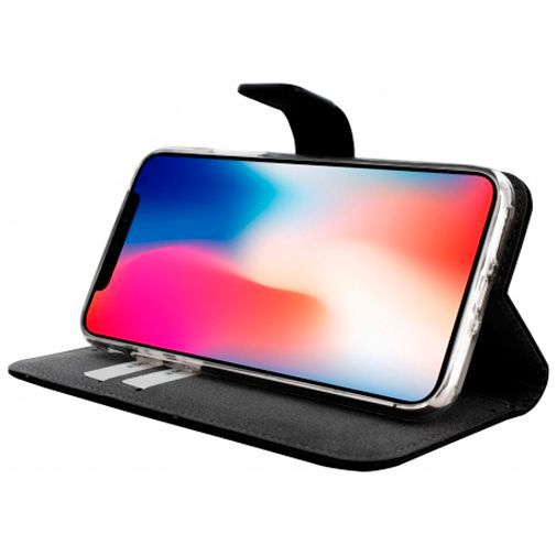 Produktimage des Mobiparts Premium Wallet TPU Case Schwarz Apple iPhone X/XS