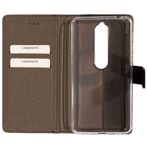 Productafbeelding van de Mobiparts Premium Wallet TPU Case Black Nokia 6.1