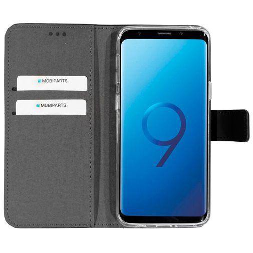 Productafbeelding van de Mobiparts Premium Wallet TPU Case Black Samsung Galaxy S9