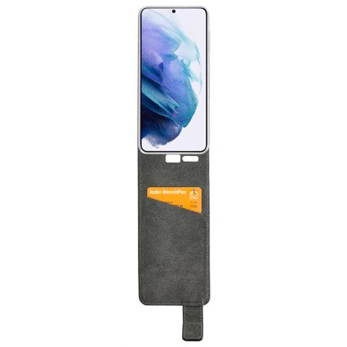 Productafbeelding van de Mobilize PU-leer Flip Case Zwart Samsung Galaxy S21