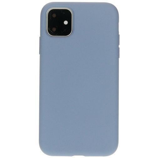 Productafbeelding van de Mobiparts Silicone Cover Grey Apple iPhone 11
