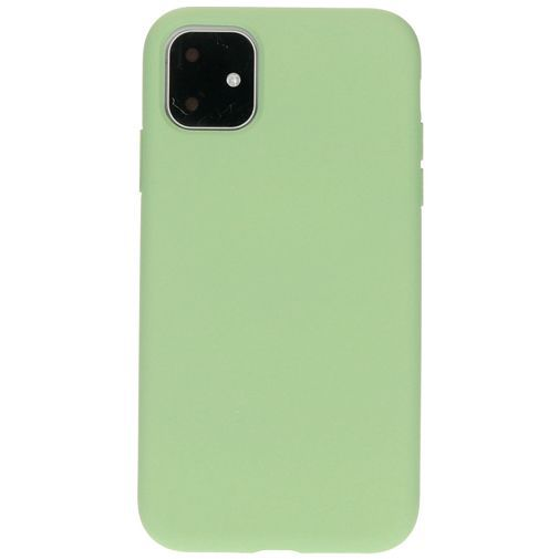 Productafbeelding van de Mobiparts Silicone Cover Green Apple iPhone 11