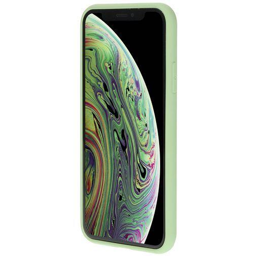 Produktimage des Mobiparts Silikon Case Grün Apple iPhone X/XS