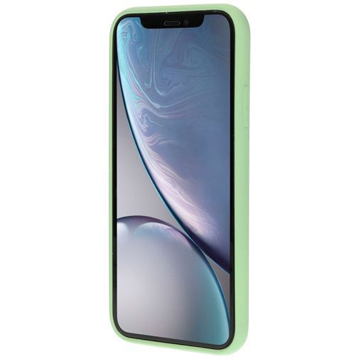 Productafbeelding van de Mobiparts Silicone Cover Green Apple iPhone XR