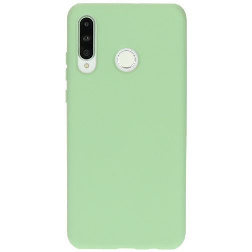 Productafbeelding van de Mobiparts Silicone Cover Green Huawei P30 Lite/P30 Lite New Edition