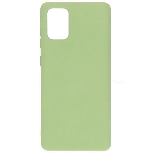 Productafbeelding van de Mobiparts Silicone Cover Green Samsung Galaxy A71