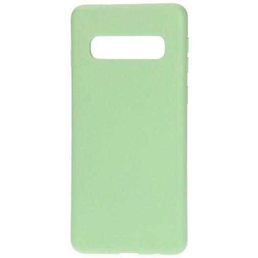 Productafbeelding van de Mobiparts Silicone Cover Green Samsung Galaxy S10