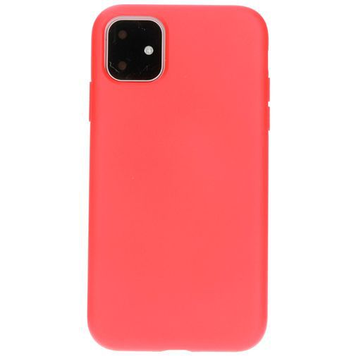 Productafbeelding van de Mobiparts Silicone Cover Red Apple iPhone 11