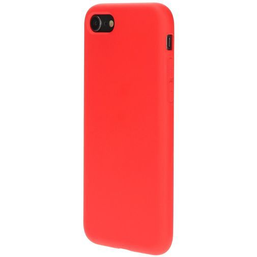 Productafbeelding van de Mobiparts Silicone Cover Red Apple iPhone 7/8/SE 2020