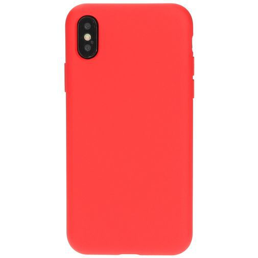 Productafbeelding van de Mobiparts Silicone Cover Red Apple iPhone X/XS