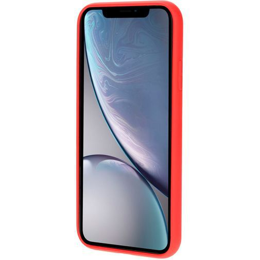 Productafbeelding van de Mobiparts Silicone Cover Red Apple iPhone XR