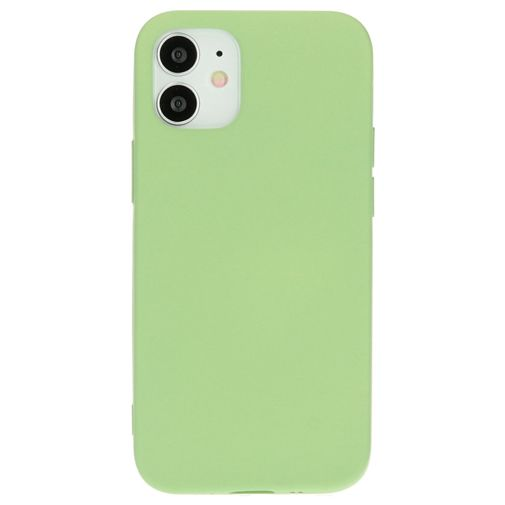 Productafbeelding van de Mobiparts Siliconen Back Cover Apple iPhone 12 Mini Groen