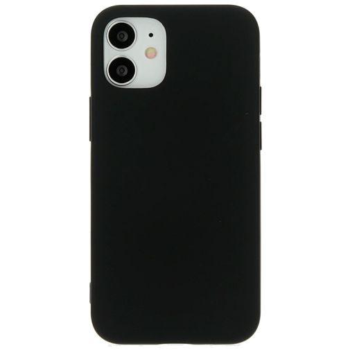 Productafbeelding van de Mobiparts Siliconen Back Cover Apple iPhone 12 Mini Zwart