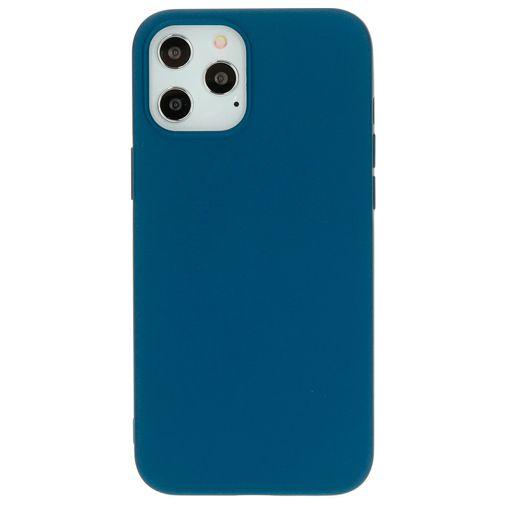 Productafbeelding van de Mobiparts Siliconen Back Cover Blauw Apple iPhone 12 Pro Max