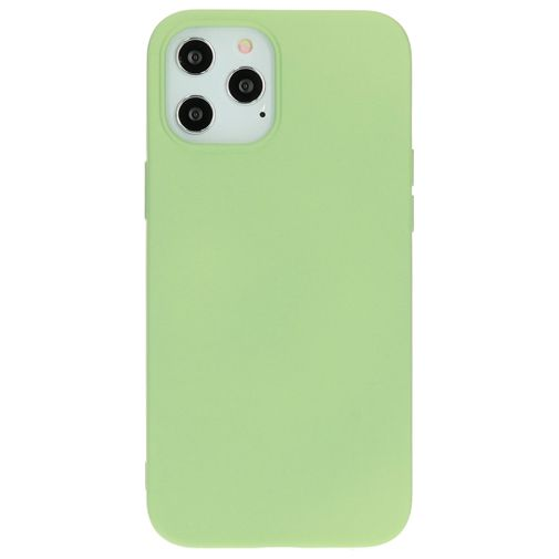 Productafbeelding van de Mobiparts Siliconen Back Cover Groen Apple iPhone 12 Pro Max