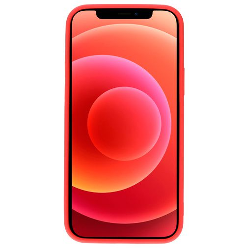 Productafbeelding van de Mobiparts Siliconen Back Cover Rood Apple iPhone 12/12 Pro